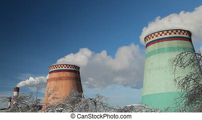 Smoke stacks - Moscow , Russia