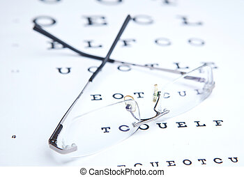 glasses  & eye chart