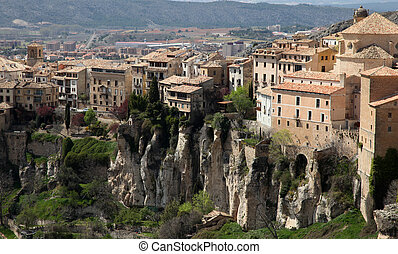 Historic Walled Town of Cuenca - Spain. This view shows the...