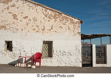 Mediterranean architecture - Traditional whitewashed...
