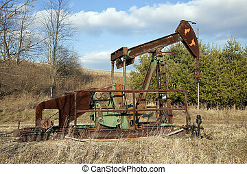 Oil well pump seen in Ohio