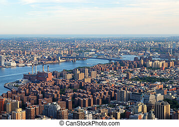 New York City Manhattan aerial view - New York City...