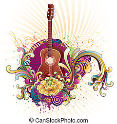 music background - vector illustration of musical theme