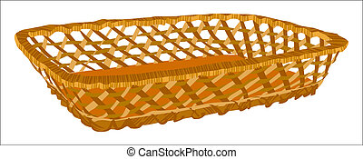 Empty basket Illustration in vector format EPS