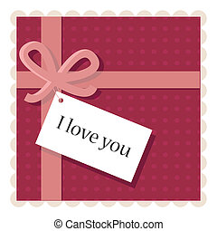 valentine's day card with a paper note