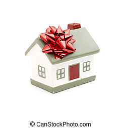 House gift for you isolated on white