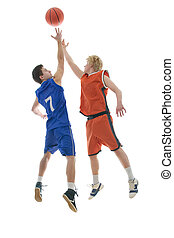 basketball game - Jump Ball to start the game