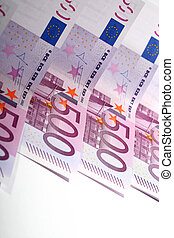 500 euro banknotes macro close up