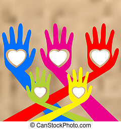 Hands and heart.