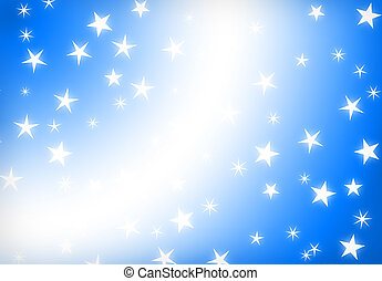 blue background - blue star holiday abstract background