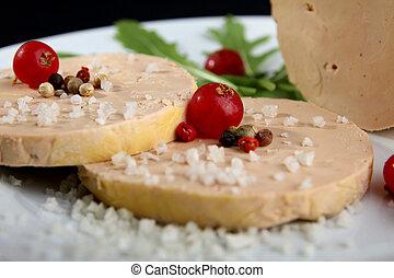 foie gras - plate of foie gras