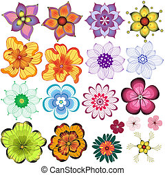 Collection decorative flowers - Collection decorative...