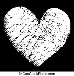 Heart and black background vector illustration