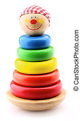 children's pyramid  - Tumbler toy closeup