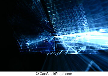 financial abstract background in fast motion