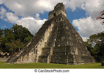 templo, Maya,  Tikal