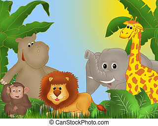 Jungle - Background or frame illustration