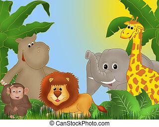 Jungle - Background or frame illustration