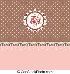 Cute greeting card with roses element design