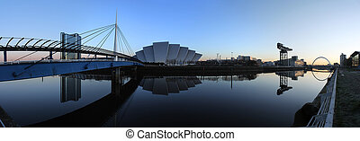 clyde morning - The modern skyline of Glasgows River Clyde...