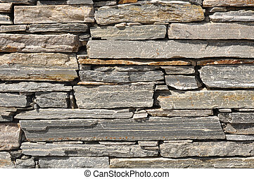 Gray Stone Brick Wall