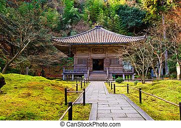 Zen garden at a sunny day