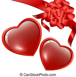 red hearts