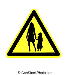 yield to pedestrian sign - yield sign with pedestrian icon...