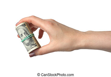 Money in a hand