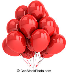 Red party balloons
