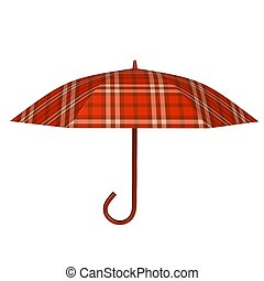 Red umbrella 3d rendered