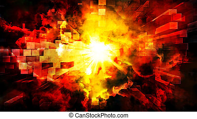 Abstract explosion - An illustration of an abstract...
