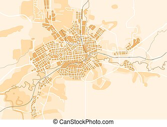 Vector map of the city Decorative background vector...