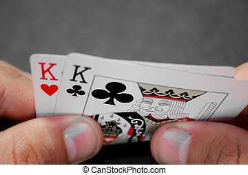 pocket kings BW - A pair of pocket kings with red isolated