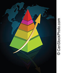 Pyramid - colorful business Pyramid