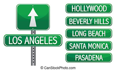 los angeles la street signs