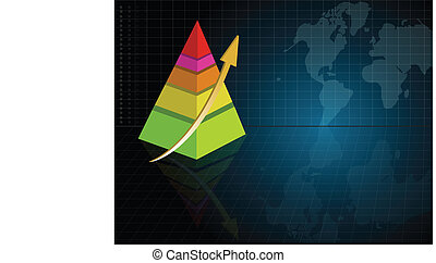Pyramid background - Business pyramid background