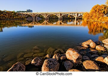 Rocks along the River - Calm waters of the South...