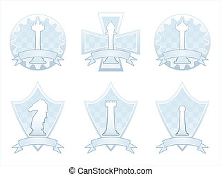 White Chess banners