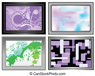 Frame abstract paintings