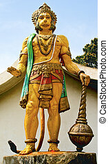 statue of Hanuman at dharumsala - hanuman the hindu monkey...