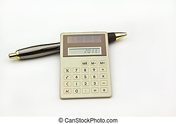 2011 Finances - Photo of Calculator showing 2011 for the...