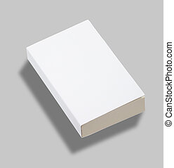 Blank paperback book cover w clipping path - Blank paperback...