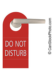 Large Red Isolated Do Not Disturb Tag - Large Red Do Not...