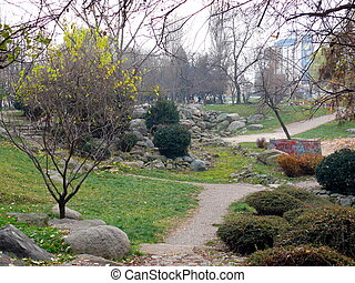 Central park in Sofia, Bulgaria