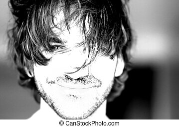 Portrait - Extremely high key high contrast stylized...