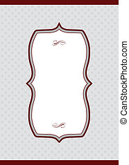 Vector Burgundy Diamond Pattern and Frame