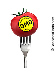 Genetically modified food - genetic engineering concept