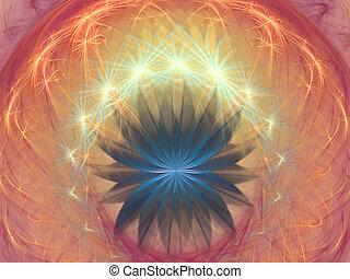 Fractal background - flower fantasy