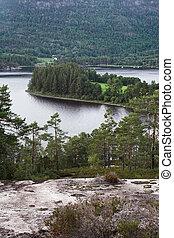 seljord, lago, norvegia